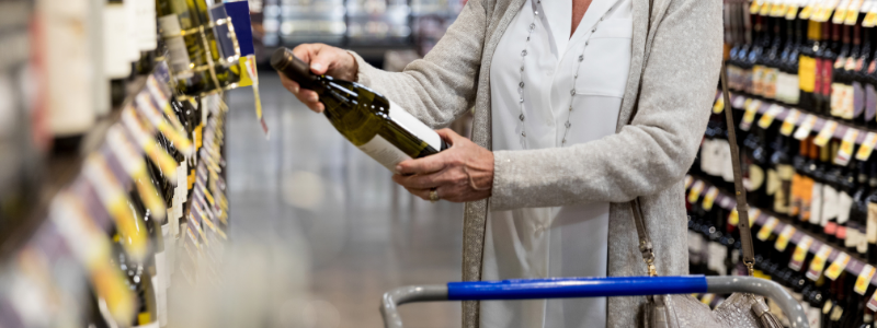 wine label liquor store